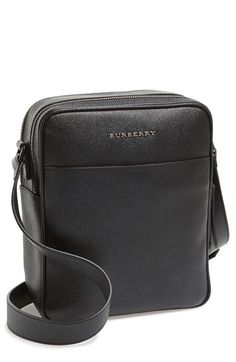 BURBERRY Leather Crossbody Bag. #burberry #bags #shoulder bags #leather #crossbody #lining