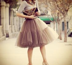 Tulle skirt. Another thing I wish I could find easily in a store!