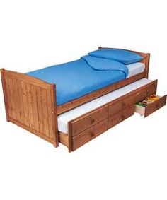 Trundle bed with drawers for the boys room