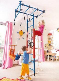 Indoor jungle gym! What a great idea when it's too cold to play outside!  #kids #junglegym #fun