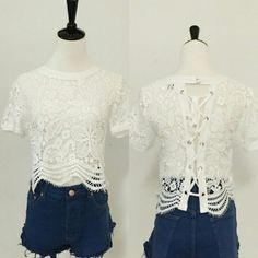 All Lace Tie Up Top A beautiful piece of the April Spirit collection. True to size. April Spirit Tops Blouses