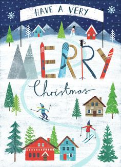 Joanne Cave | Advocate Art Christmas Scenes, Noel Christmas, Very Merry Christmas, Vintage Christmas, Christmas Crafts, Christmas Backrounds, Happy Birthday Floral, Birthday Wishes, Christmas Paintings