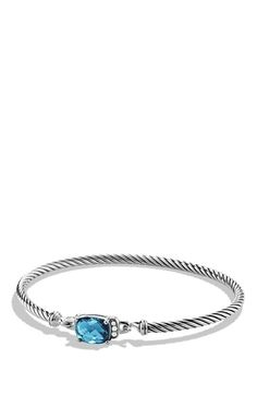 David Yurman 'Petite Wheaton' Bracelet with Semiprecious Stone & Diamonds available at #Nordstrom