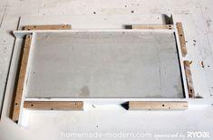 HomeMade Modern DIY EP15 Concrete + Wood Coffee Table Step 7