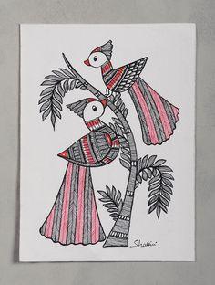 Tree of Life with Peacock Madhubani Painting x Doodle Art Drawing, Zentangle Drawings, Mandala Drawing, Doodling Art, Zentangles, Madhubani Art, Madhubani Painting, Mandala Art Lesson, Doodle Art Designs