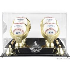 Chicago White Sox Fanatics Authentic 2005 World Series Golden Classic Four Baseball Champs Logo Display Case - $84.99