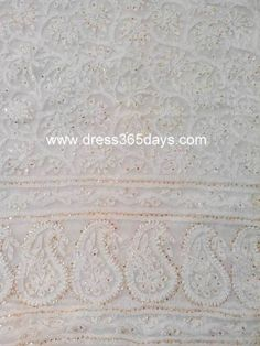 Chikankari Suit with Mukaish on Net fabric(Two Piece Only)