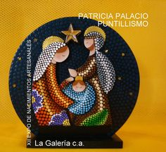 u Christmas Mandala, Christmas Rock, Christmas Nativity Scene, Christmas Crafts, Dot Art Painting, Rock Painting Designs, Mandala Painting, Stone Painting, Painted Mugs