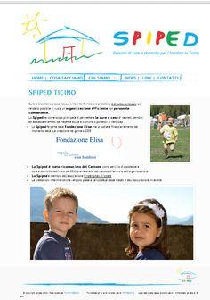 Sito web per Spiped, servizio di cure pediatriche domiciliari in Ticino. Layout grafico by AGra Design. Realizzato in collaborazione con Ticino Design.
