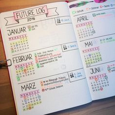 """Day 5 of the #31dayorganisationchallenge and #planwithmechallenge Future Plans: this is my future log and it totally works for me #bulletjournal…"""