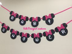 Minnie Mouse Banner Mickey Mouse Baby Shower Banner / Garland / Sign / Decoration / Party / Minnie and Mickey Mouse / Twins / Disney by KikiDesignsCreations on Etsy