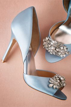 we ❤ this!  moncheribridals.com  #weddingshoes #bridalshoes #weddingsomethingblue