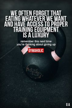 We Often Forget That Eating Whatever We Wants And have access to proper equipment is a luxury. Remember this next time you're thinking about giving up. More motivation: https://www.gymaholic.co #fitness #motivation #gymaholic
