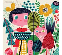 Helen Dardkin-love her illustrations and textiles.