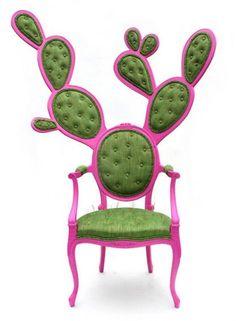 """""""Prickly Pair Chair"""" Valentina Glez Wohlers, 2010. Mueble de firma (rediseño de la silla Luis XV)"""