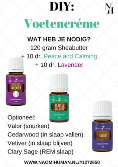 DIY: Voetencréme with young living essential oils Homemade Essential Oils, Citrus Essential Oil, Chamomile Essential Oil, Yl Essential Oils, Young Living Essential Oils, Essential Oil Blends, Yl Oils, Young Living Lavender, Young Living Oils