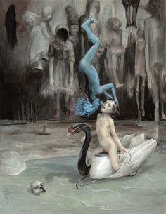 Illustration for El Eco de Mis Muertes by Alejandra Pizarnik | Santiago Caruso