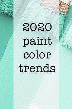 These 2020 paint color trends are awesome! Find out the color of the year for all of the major paint companies, like Pantone, Benjamin Moore, Farrow and Ball, Sherwin Williams, Behr, PPG and Valspar with pictures of interiors to go with them. Click through to get some home painting ideas for your room decor. | Home Decor Trends Paint Color Schemes, Wall Paint Colors, Interior Paint Colors, Paint Colors For Home, Creative Wall Painting, Room Wall Painting, Faux Painting, Trending Paint Colors, Popular Paint Colors