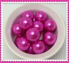 Bubblegum beads necklace, bubblegum beads product, bubblegum beads supplies, bubble gum beads etsy, bubblegum beads DIY, bubblegum bead jewelry supplies, Chunky Bead Pearl Hot Pink Gumball beads 20mm by Urbancitysupplies
