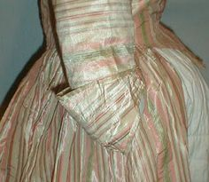 Wonderful Stripy 18th Century English styled Gown