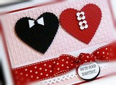 Heart (male+female) ~ great for an Anniversary or Valentine's Day! Love Valentines, Valentine Day Cards, Wedding Anniversary Cards, Wedding Cards, Handmade Birthday Cards, Handmade Cards, Vintage Cards, Diy Cards, Stampin Up Cards