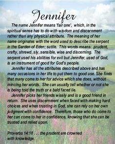 Meaning of name Jennifer.