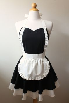 French Maid Apron by Boojiboo on Etsy