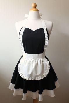 French Maid Apron by Boojiboo on Etsy - Ooo la la ;)