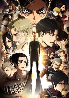 Shingeki no kyojin - - - Season 4 Attack On Titan Season, Attack On Titan Funny, Attack On Titan Ships, Attack On Titan Fanart, Attack Titan, Otaku Anime, Anime Guys, Manga Anime, Anime Art