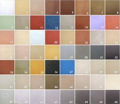 color palette beton cire