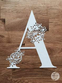 Floral Letter 'A' SVG PDF Jpg Dxf Png Design – Papercutting Vinyl Template Commercial Use – Papercut – nursery papercut – new baby papercut Floral Letter 'A' SVG PDF Design by TommyandTillyDesign on Etsy Paper Cutting Patterns, Paper Cutting Templates, Kirigami, Paper Flower Backdrop, Paper Flowers, Laser Cutter Projects, Alphabet Wallpaper, Diy And Crafts, Paper Crafts