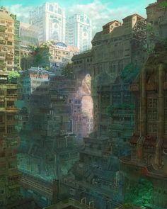 Imperial Boy environment, city, digital, fantasy, japan