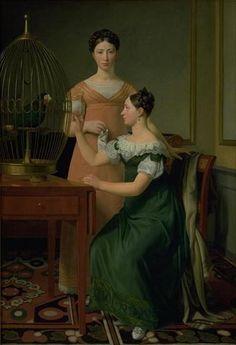 Christoffer Wilhelm Eckersberg: Bella og Hanna. M.L. Nathansons ældste døtre - Statens Museum for Kunst