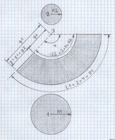 - Desarrollo sobre el papel de un tronco de cono de revolución - Para hacer el desarrollo de un tronco de cono de revolución sobre una hoja de papel, tenemos primero que observar la perspectiva y las vistas principales realizadas anteriormente,
