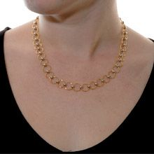 """""""Round We Go"""" in a circle of golden rings and silver balls. Neckpiece with extension Golden Ring, Jewelries, Balls, Pearl Necklace, Rings, Silver, Money, Ring, Pearl Necklaces"""