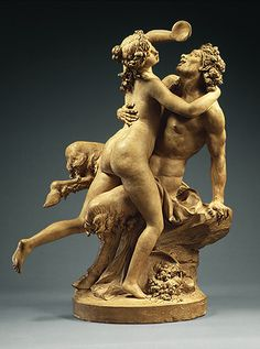 Nymph and Satyr Carousing (Intoxication of Wine), Claude Michel Clodion, 1780-90.