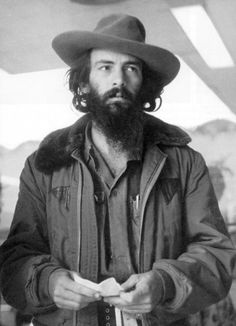 """portrait of the cuban revolutionary camilo cienfuegos.    well camilo is one hot burly gent and if che is right then via-con-dios. """"at the risk of seeming ridiculous, let me say that the true revolutionary is guided by a great feeling of love. it is impossible to think of a genuine revolutionary lacking this quality… """" – ernesto che guevara"""
