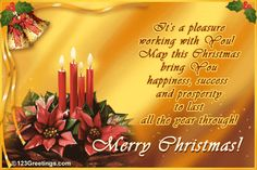 Christmas wishes quotes merry christmas wishes images reach out to your employees with this warm and elegant christmas wish free online a pleasure working with you ecards on christmas m4hsunfo