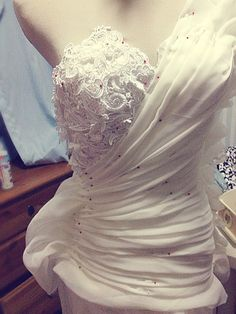 My half-finished drap-lace flowy gown