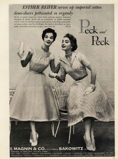 Esther Reifer for Peck and Peck Ad Campaign Spring/Summer 1954