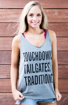Kickoff Couture - Touchdowns, Tailgates, Traditions Skinny Strap Tank - University of Florida Gators Game Day Apparel www.aliceandalbertco.com