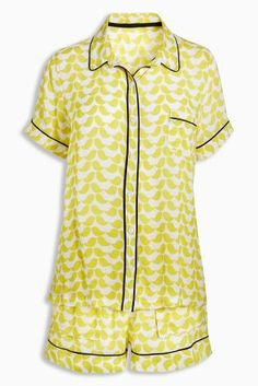 There's nothing more comfy than a traditional pyjama set  and this gorgeous yellow one comes with shorts for the summer, winning!