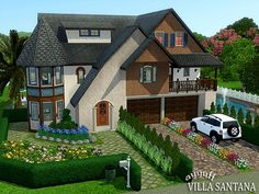 French villa sims 3 and villas on pinterest for Construire une maison sims 3 xbox 360