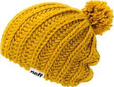 Neff Curse Gorro de punto de lana con pompón para mujer/niña