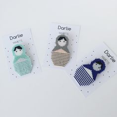 Mariette - Broches Poupées Russes en perles Miyuki - by Darlie - littlePaillettes