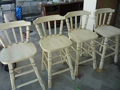 neat before  & after on bar stools