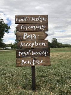 Directional Wedding Signs customizable & made to order! You choose the stain(s), amount of boards, what you want written and if you want a direction for each sign. This listing is for boards. If you need more than 3 boards, check out the listing below! Wedding Ceremony Signs, Unity Ceremony, Reception Signs, Wedding Scene, Wedding Signage, Wedding Reception Decorations, Wedding Ideas, Wedding Stuff, Reception Ideas
