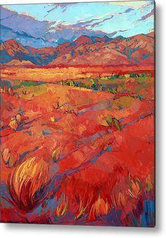 Desert Rainbow Triptych - Center Panel Acrylic Print By Erin Hanson