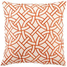 DL Rhein circle link orange pillow at Layla Grace. .Would be perfect for guest bedroom....or a cheaper version :)  ($90)