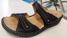 bfed663aed6 Finn Comfort Women's Black Leather Comfort Sandal Shoe US 40D - 9.5 EUC  #FinnComfort #